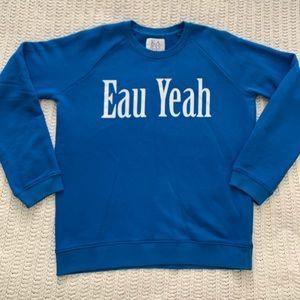 Zoe Karssen Blue Sweater Sweatshirt Sz M